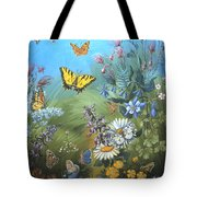 Butterflies And Wildflowers Of Wyoming Tote Bag