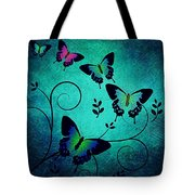Butterflies At Dusk Tote Bag