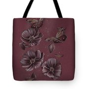 Butterflies Flying Through The Cosmos Tote Bag