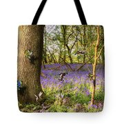 Butterflies In A Bluebell Woodland Tote Bag