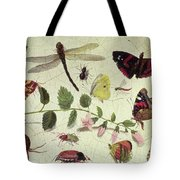 Butterflies, Insects And Flowers Tote Bag