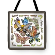 Butterflies Moths Caterpillars Tote Bag