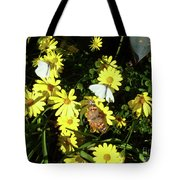 Butterflies On The Daisies Tote Bag