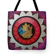 Butterflies On The Pink Lotus Tote Bag