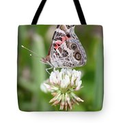 Butterfly And Bugs On Clover Tote Bag