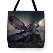 Butterfly And Caterpillar Tote Bag