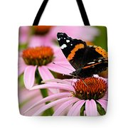 Butterfly And Cone Flowers Tote Bag