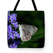 Butterfly And Flower Tote Bag