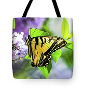 Butterfly And Lilacs Tote Bag