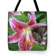 Butterfly And Lilly Tote Bag