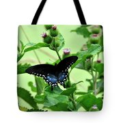 Butterfly And Mossy Pond Tote Bag