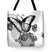 Butterfly And Orchids Tote Bag