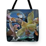 Butterfly And Orhid Tote Bag
