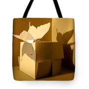 Butterfly And The Cube 1 Tote Bag