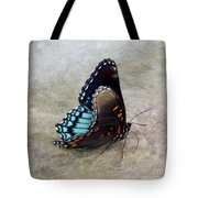 Butterfly Blue On Groovy 2 Tote Bag