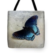 Butterfly Blue On Groovy Tote Bag