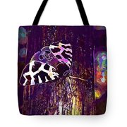 Butterfly Brown Bear Drawing Wing  Tote Bag