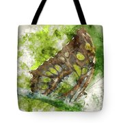 Butterfly Close Up Digital Watercolor On Photograph Tote Bag