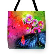 Butterfly Color Explosion Tote Bag