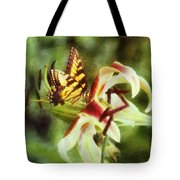 Butterfly Daylily Tote Bag