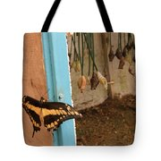 Butterfly Drying His New Wings Tote Bag