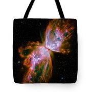 Butterfly Emerges From Stellar Demise Tote Bag