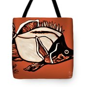 Butterfly Fish In Watercolor Tote Bag