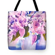 Pink Butterfly Flowers Tote Bag