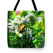 Butterfly In A Garden Tote Bag