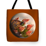 Butterfly In A Globe Tote Bag