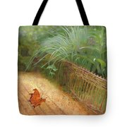 Butterfly In A Small Zen Sand Garden Tote Bag
