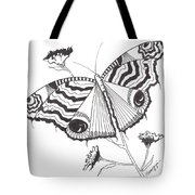 Butterfly In Black And White Tote Bag
