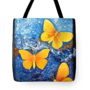 Butterfly In Blue 1 Tote Bag