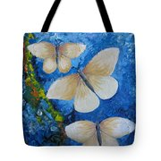 Butterfly In Blue 4 Tote Bag