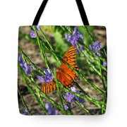 Butterfly In Blue Tote Bag