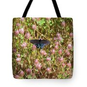 Butterfly In Clover Tote Bag