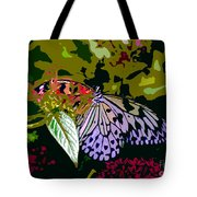 Butterfly In Garden Tote Bag