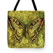 Butterfly In Golds-amber Collection Tote Bag