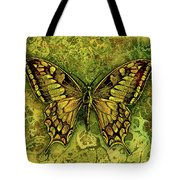 Butterfly In Greens-amber Collection  Tote Bag