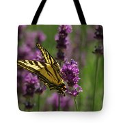 Butterfly In Lavender Tote Bag
