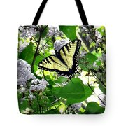Butterfly In The Lilac No. 1 Tote Bag