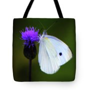Butterfly In White Tote Bag