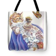 Butterfly Kitten Tote Bag