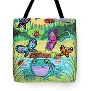 Butterfly Lake Tote Bag