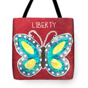 Butterfly Liberty Tote Bag