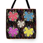 Butterfly Look Graphic Flowers Colorful  Art For A Cheerful Smiling Mood Great For Kids Room Party R Tote Bag