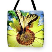 Butterfly Meets Sunflower Tote Bag