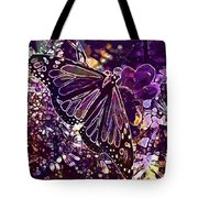 Butterfly Monarch Flower  Tote Bag