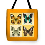 Four Butterfly Montage Tote Bag