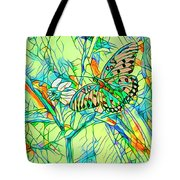 Butterfly Mosiac Tote Bag